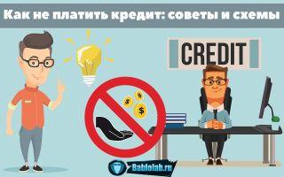 Как не платить кредит законно: ТОП-7 рабочих схем + советы и способы как уйти от уплаты кредитов без последствий