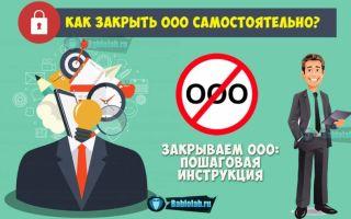 Как закрыть ООО самостоятельно в 2018 году: пошаговая инструкция по ликвидации юридического лица