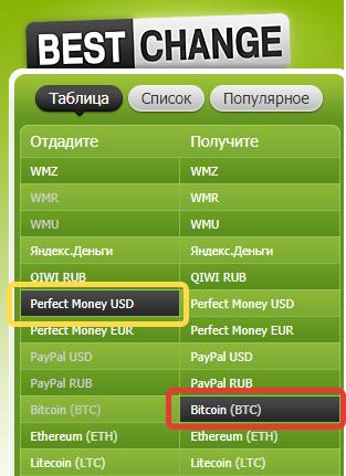 Сервис обмена биткоина на рубли