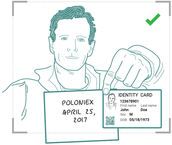 Верификация пользователя на бирже Полоникс